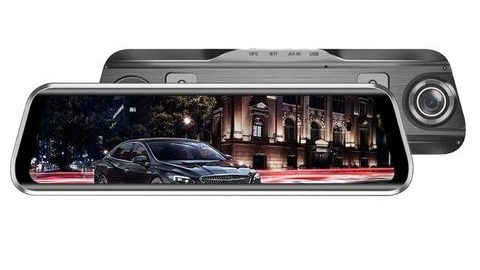 Anytek T900+ Çift Kameralı Dikiz Aynalı Araç Kamerası