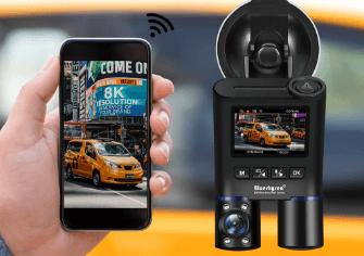Blueskysea B2W Gece Görüşlü Çift Kameralı Araç Kamerası