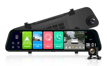 Junsun P1 Çift Kameralı Dikiz Aynalı Araç Kamerası