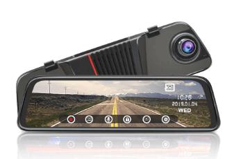 Junsun H16 Çift Kameralı Dikiz Aynalı Araç Kamerası