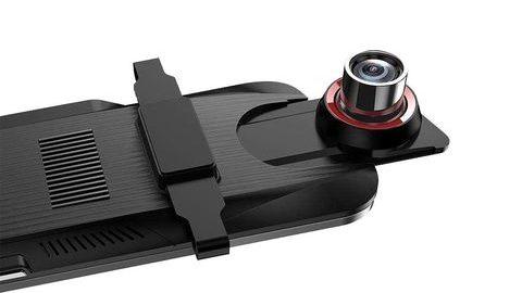 Anytek T11+ Çift Kameralı Dikiz Aynalı Araç Kamerası